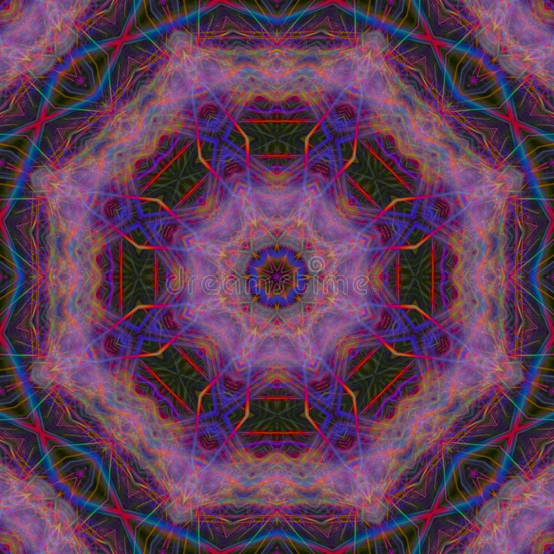 Extracto digital del ornamento del caleidoscopio del fractal, hermoso diseño de la mandala fotos de archivo libres de regalías