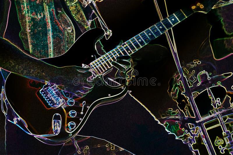 Extracto eléctrico del guitarrista imágenes de archivo libres de regalías