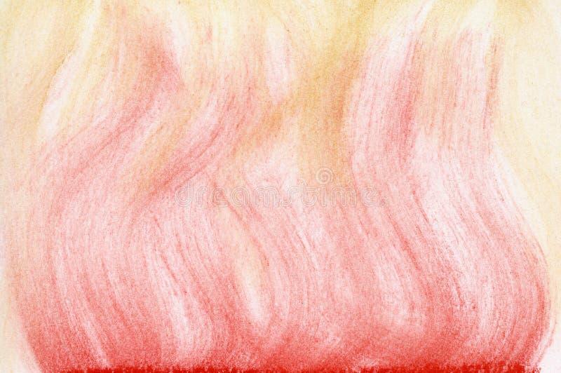Extracto en colores pastel de la llama roja y amarilla fotografía de archivo