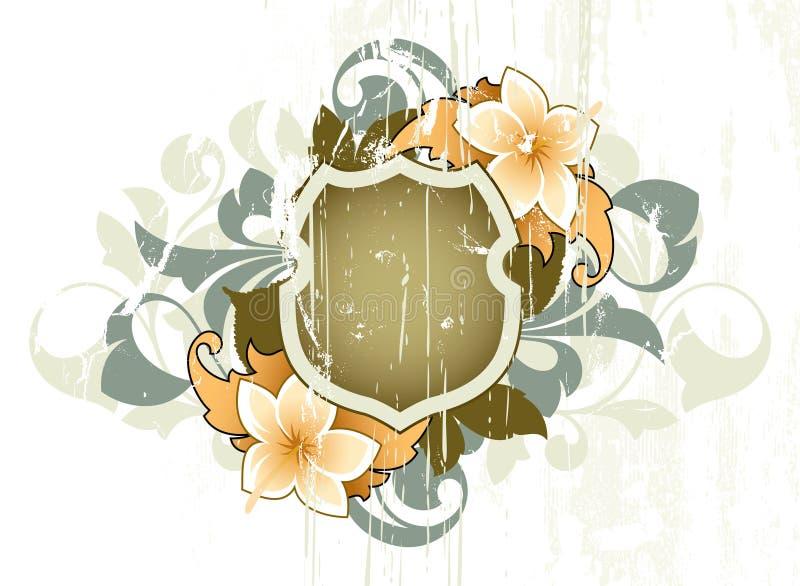 Extracto floral ilustración del vector