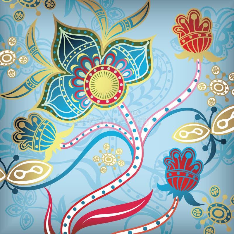 Extracto floral 6 ilustración del vector