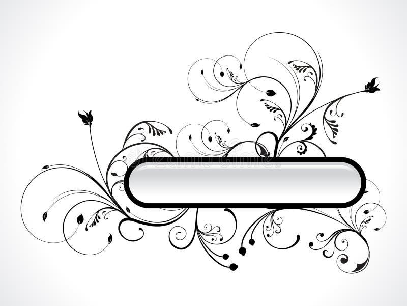 Extracto floral con el botón ilustración del vector