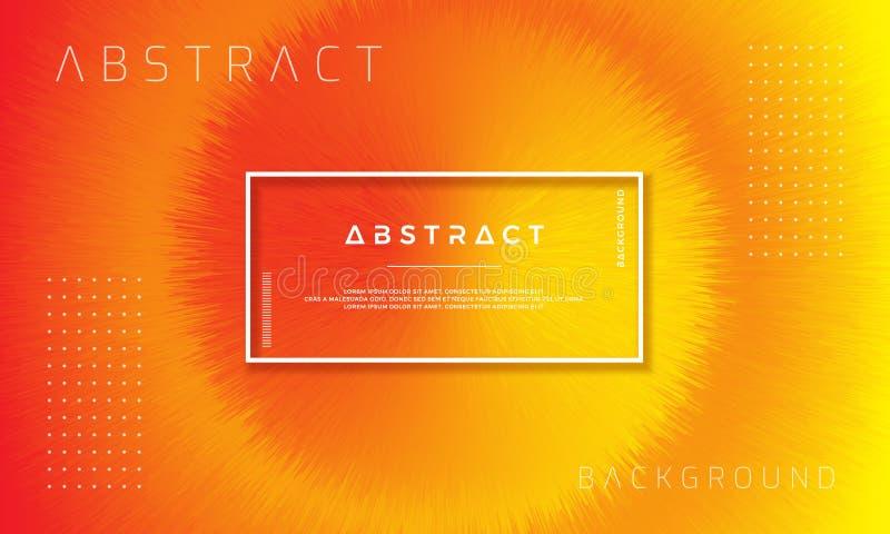 Extracto, fondo anaranjado dinámico, moderno para sus elementos del diseño y otros ilustración del vector