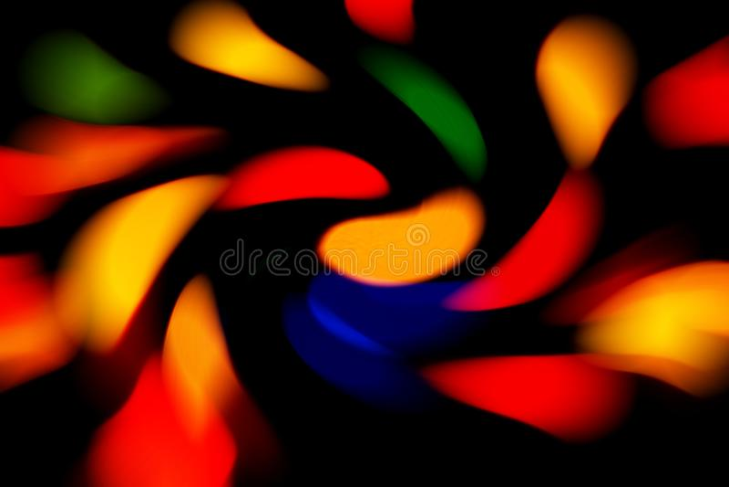 Extracto, fondo brillante de muchas líneas curvadas multicoloras Color rojo, verde, azul, amarillo y anaranjado fotografía de archivo