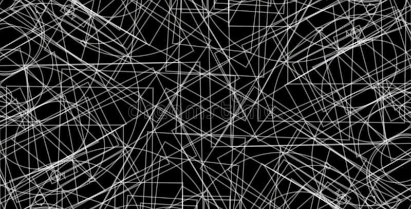 extracto, fondo geométrico del Grayscale del extracto Las formas geométricas diseñan con el fondo negro stock de ilustración