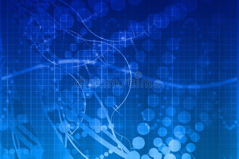 Extracto futurista azul de la tecnología de la ciencia médica stock de ilustración