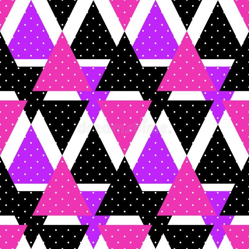 Extracto geométrico t del triángulo del fondo brillante inconsútil del modelo ilustración del vector