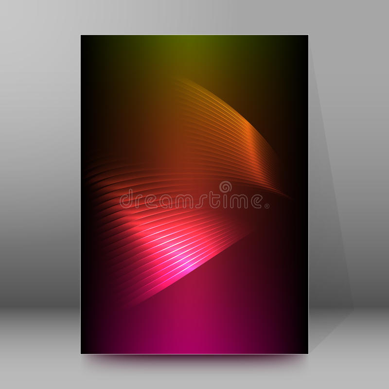 Extracto glow51 del estilo de las páginas de cubierta del folleto del informe A4 libre illustration