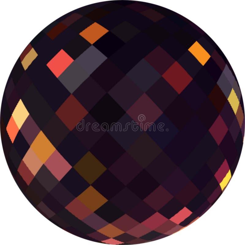 extracto gráfico de cristal oscuro de la gota 3d Reflejo de oro en superficie negra libre illustration