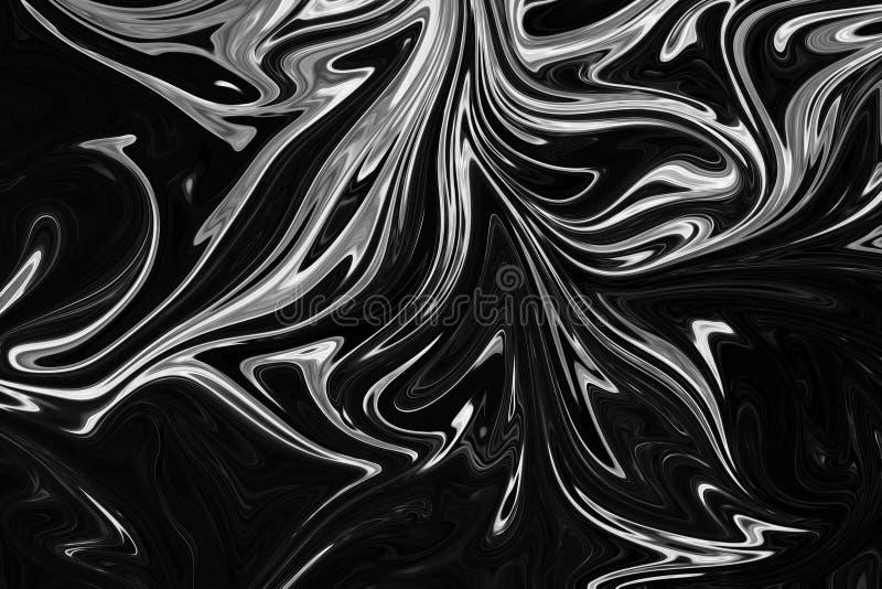 Extracto Gray Black y fondo de mármol blanco del modelo de la tinta Licue el modelo abstracto con el negro, blanco, Grey Graphics ilustración del vector