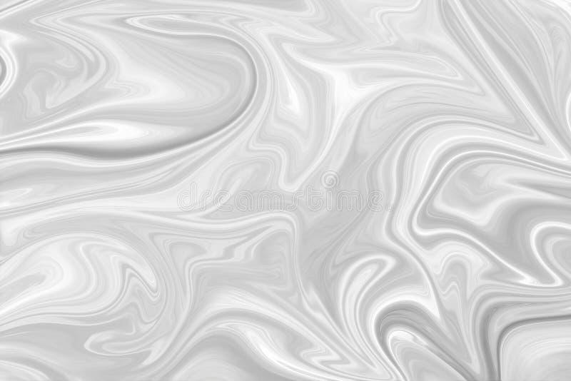 Extracto Gray Black y fondo de mármol blanco del modelo de la tinta Licue el modelo abstracto con el negro, blanco, Grey Graphics fotos de archivo libres de regalías