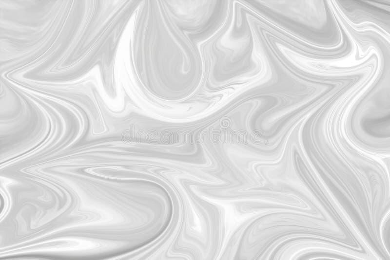 Extracto Gray Black y fondo de mármol blanco del modelo de la tinta Licue el modelo abstracto con el negro, blanco, Grey Graphics imágenes de archivo libres de regalías