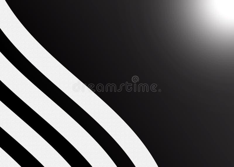 Extracto Grey Stripes Texture en fondo negro foto de archivo