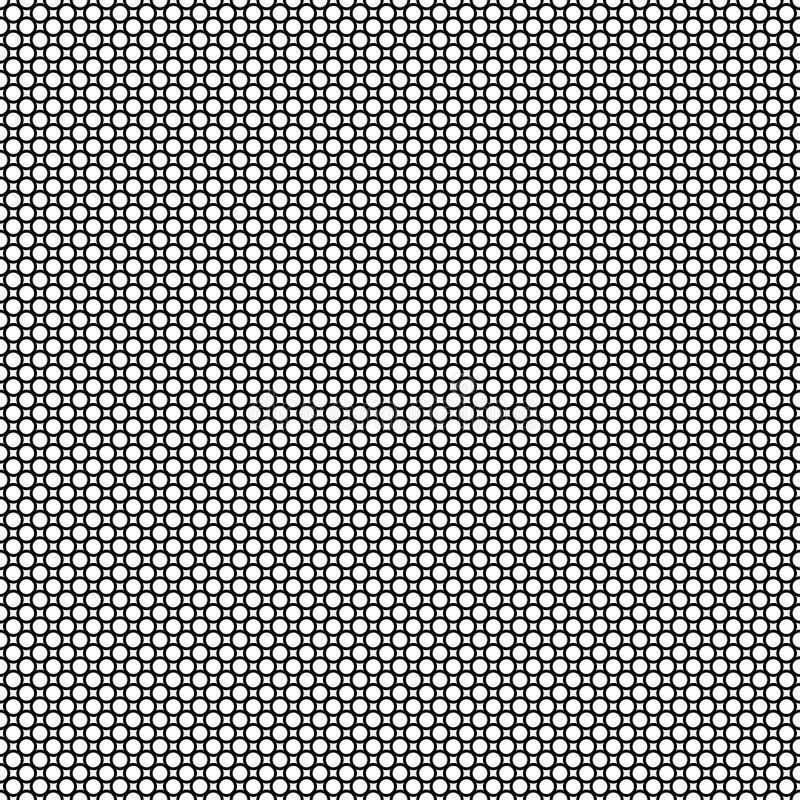 Extracto inconsútil con los círculos negros en el fondo blanco imagen de archivo libre de regalías