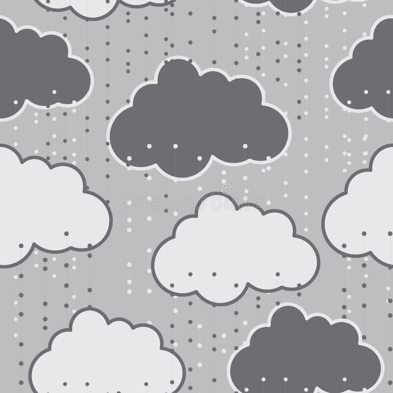 Extracto inconsútil del fondo del vector de las nubes de lluvia libre illustration