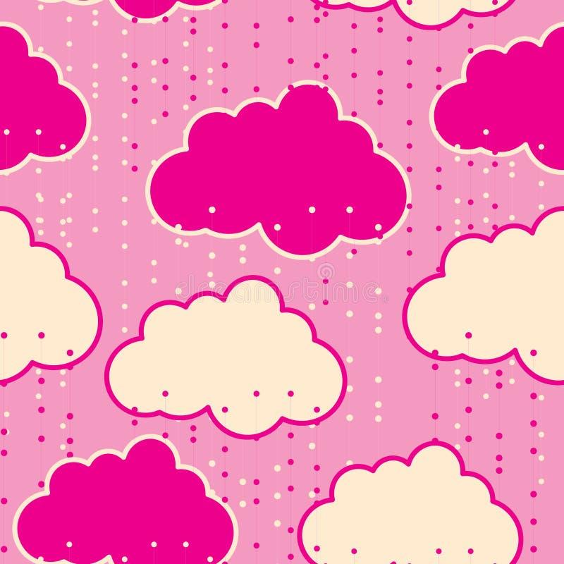 Extracto inconsútil del fondo del vector de las nubes de lluvia stock de ilustración