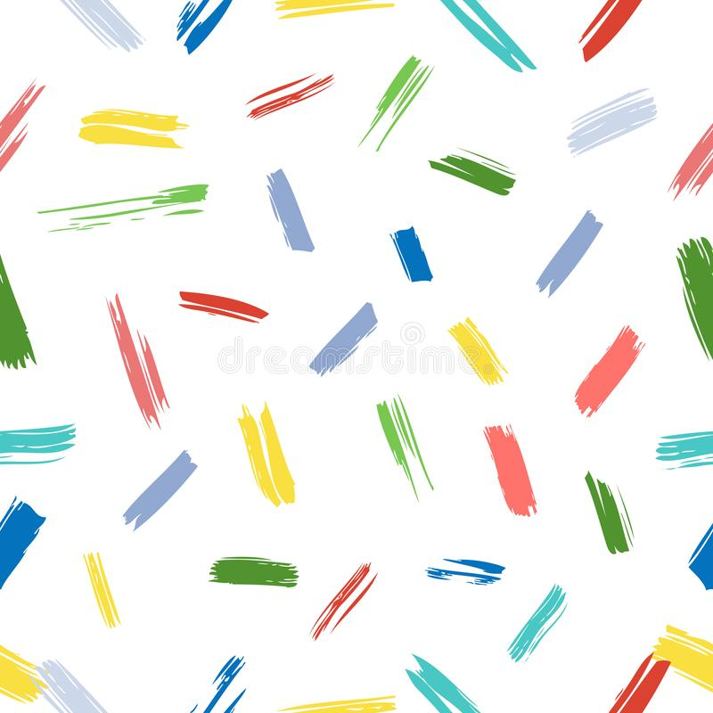 Extracto inconsútil Pale Vintage Color Scribble de la raya amarilla y del orrange Mark Pattern grande para el fondo, abrigo de pa stock de ilustración