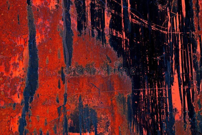 Extracto industrial en el metal aherrumbrado fotos de archivo