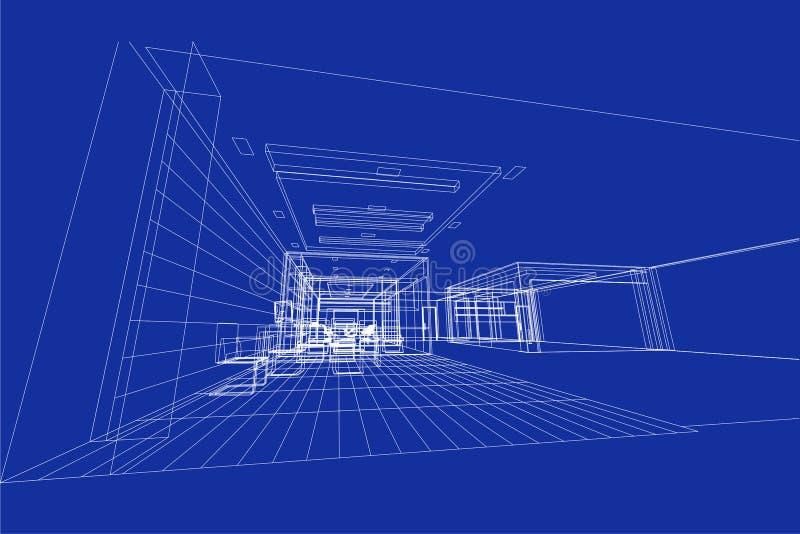 Extracto interior de la arquitectura 3d ejemplo dise o for Interior 1 arquitectura