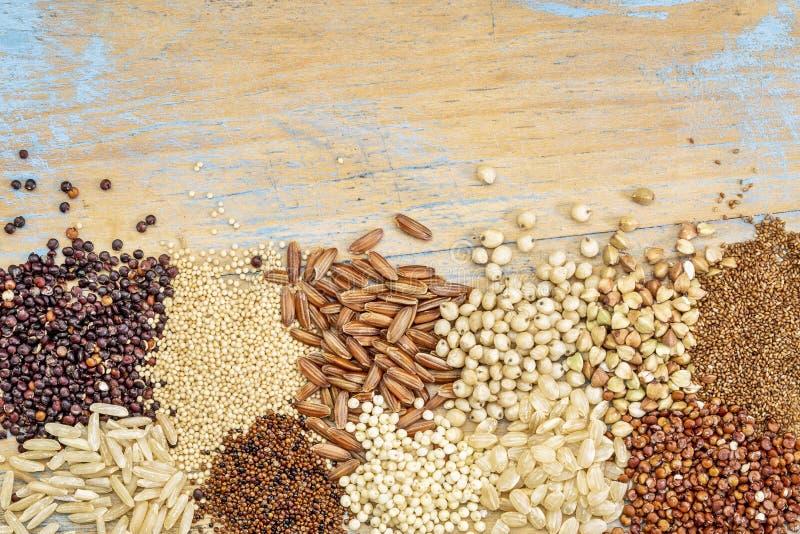 Extracto libre del fondo de los granos del gluten fotografía de archivo libre de regalías