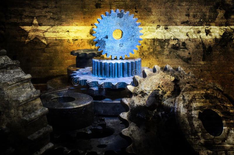 Extracto mecánico del universo del Grunge libre illustration