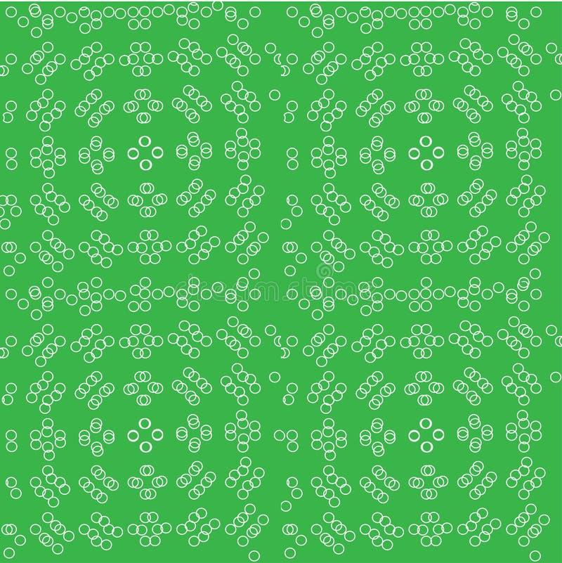 Extracto modelo inconsútil con formas y símbolos geométricos stock de ilustración