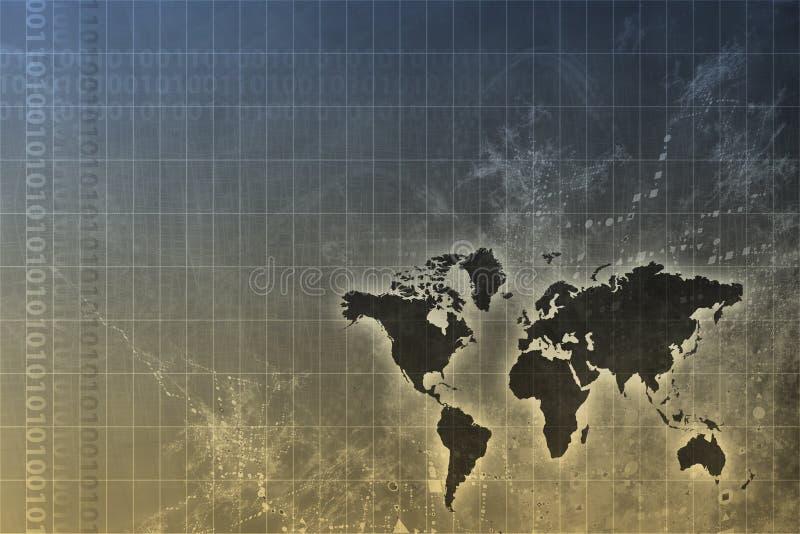 Extracto mundial corporativo del crecimiento stock de ilustración