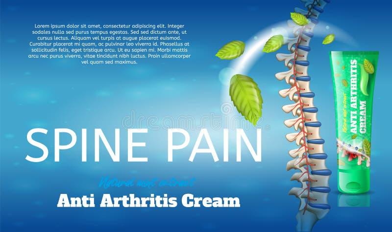 Extracto natural de la menta de la crema anti plana de la artritis libre illustration