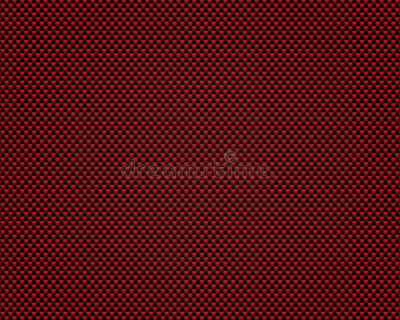 Extracto negro y rojo del modelo del metal del carbono ilustración del vector