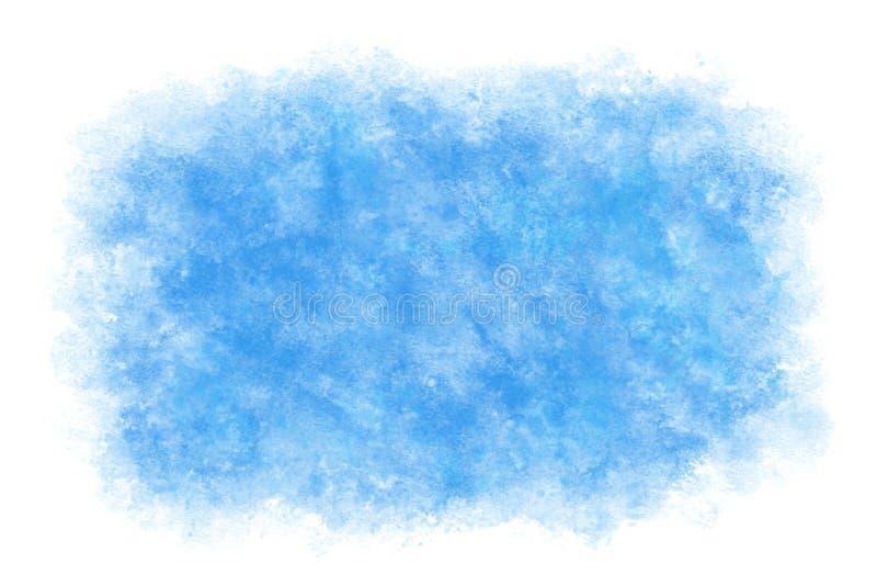 Extracto o fondo natural de la pintura de la mano de la acuarela, ejemplo del cielo azul del verano del color en colores pastel d libre illustration