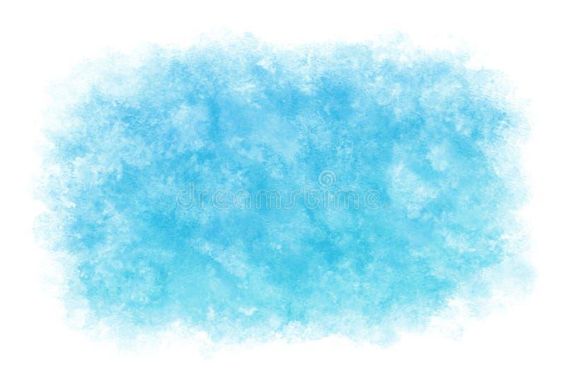 Extracto o fondo natural de la pintura de la mano de la acuarela, ejemplo del cielo azul del verano del color en colores pastel d stock de ilustración