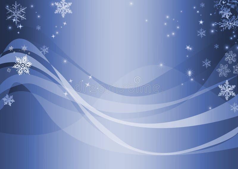 Extracto ondulado azul del invierno stock de ilustración
