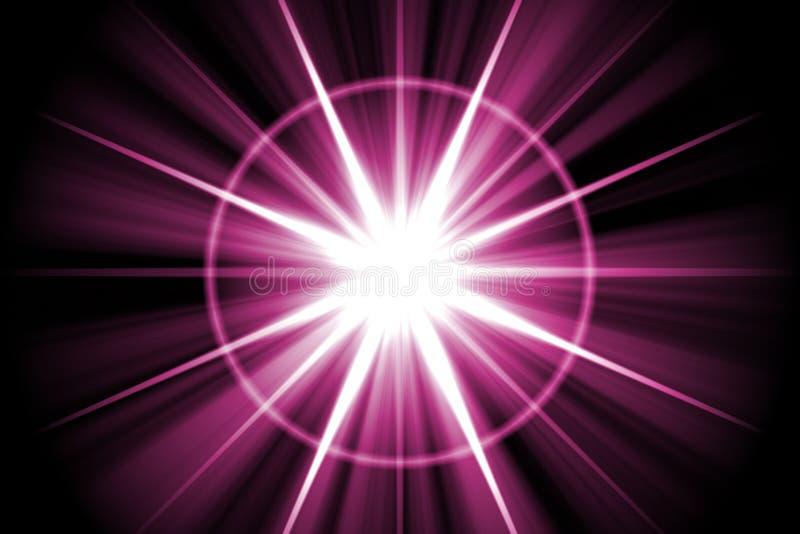 Extracto púrpura del resplandor solar de la estrella libre illustration