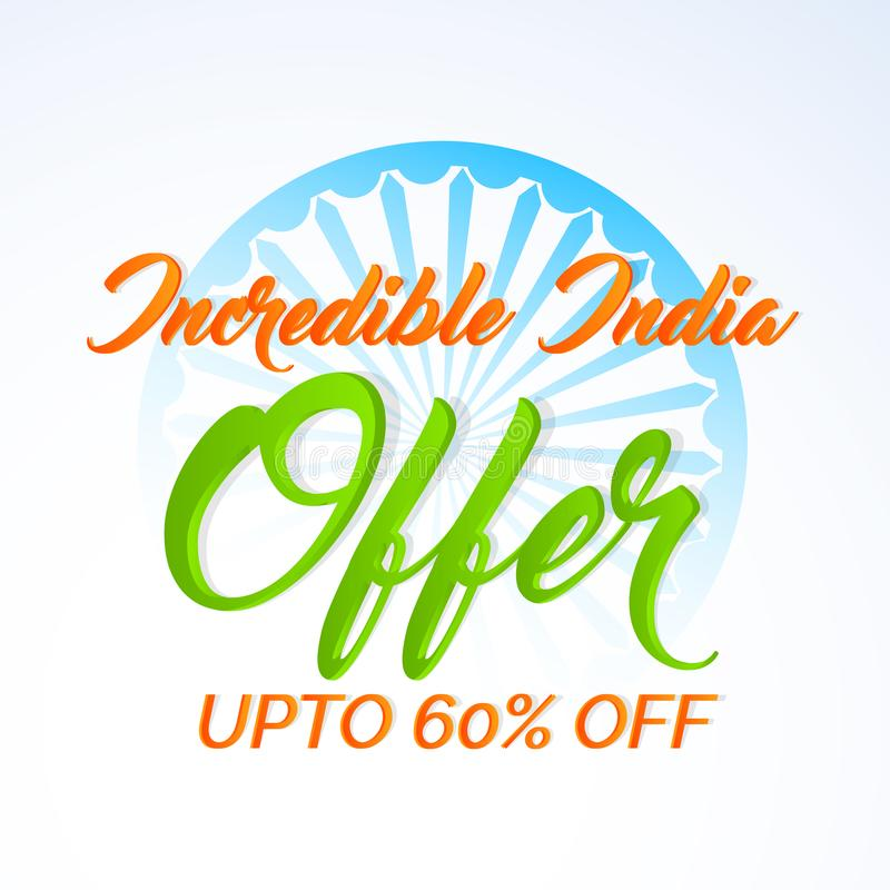 Extracto para el Día de la Independencia de la INDIA o el décimo quinto de agosto stock de ilustración