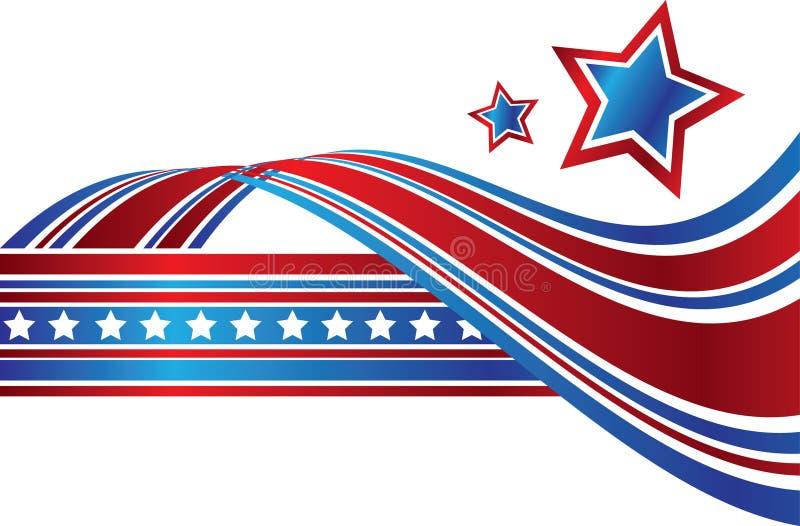 Extracto patriótico ilustración del vector