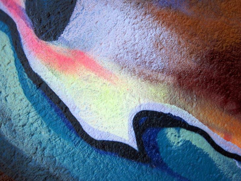 Extracto pintado de la pared imagenes de archivo