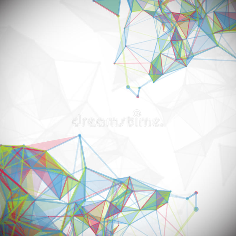 Extracto, polivinílico bajo, molécula y comunicación stock de ilustración