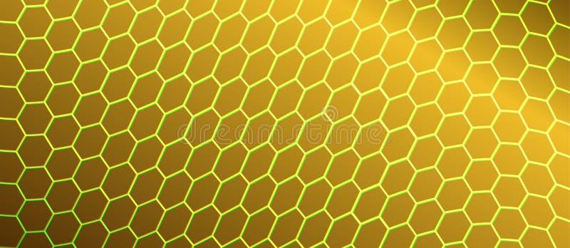 Extracto que curva la malla hexagonal en fondo de oro libre illustration