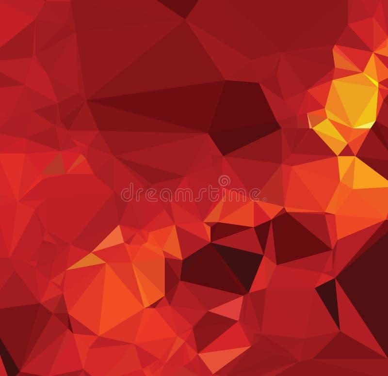 Extracto rojo de la lucha de la textura del fondo de la geometría moderna del triángulo stock de ilustración