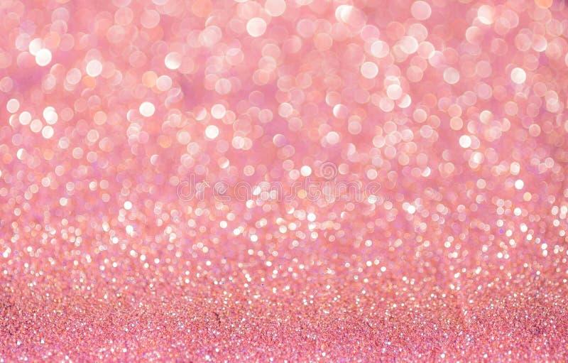 Extracto rosado de la Navidad del brillo fotografía de archivo