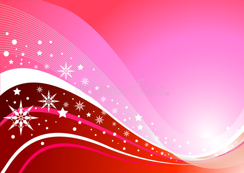 Extracto rosado del invierno ilustración del vector