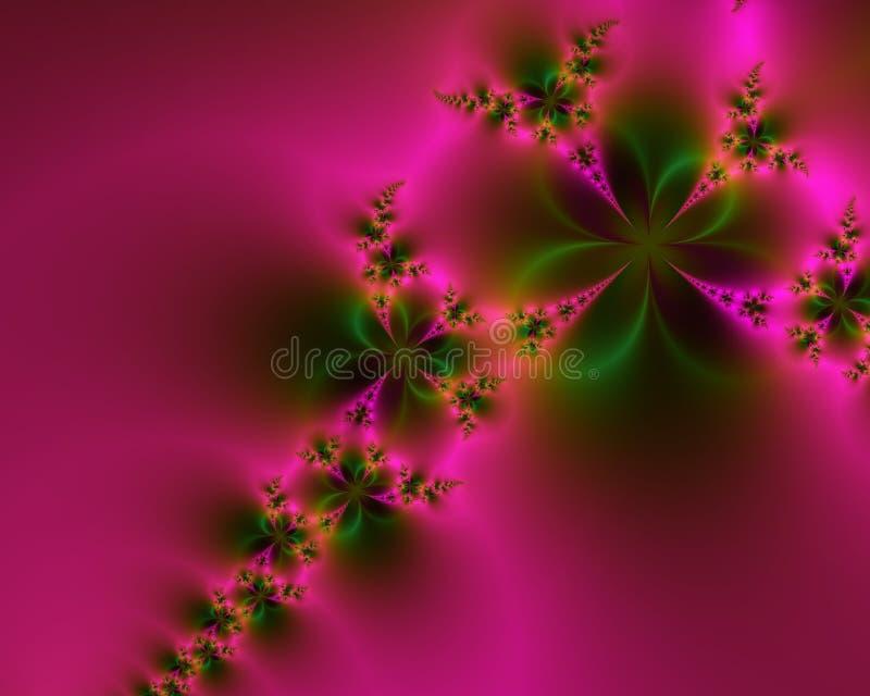 Extracto rosado y verde romántico libre illustration