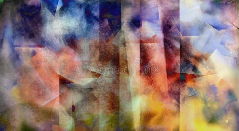 Extracto silenciado del color ilustración del vector