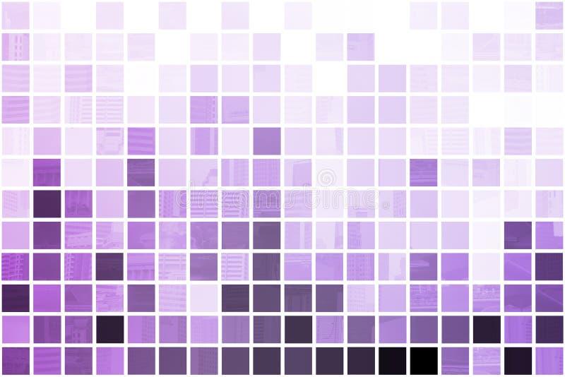 Extracto simplista y del Minimalist púrpura ilustración del vector