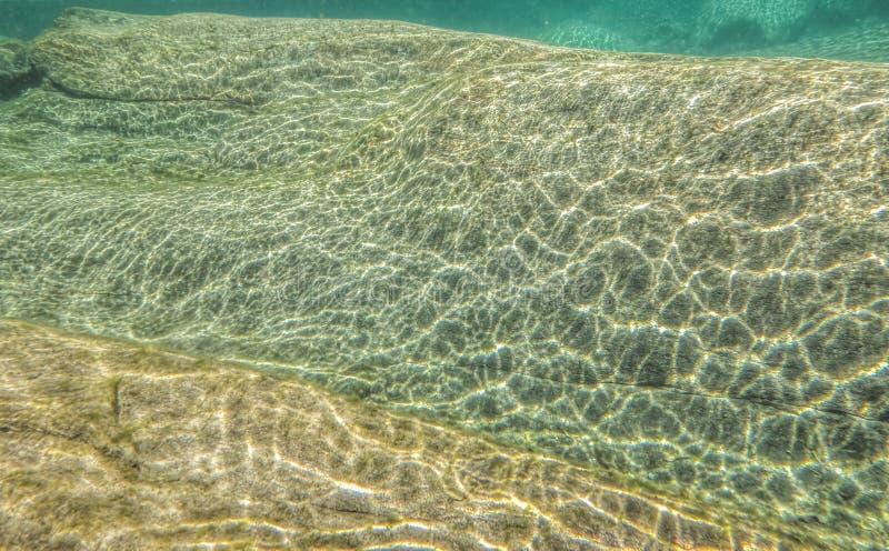 Extracto subacuático del río imagenes de archivo