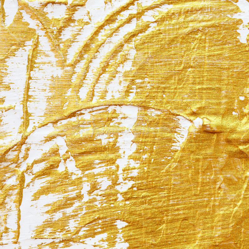 Extracto texturizado acrílico de la pintura del oro libre illustration