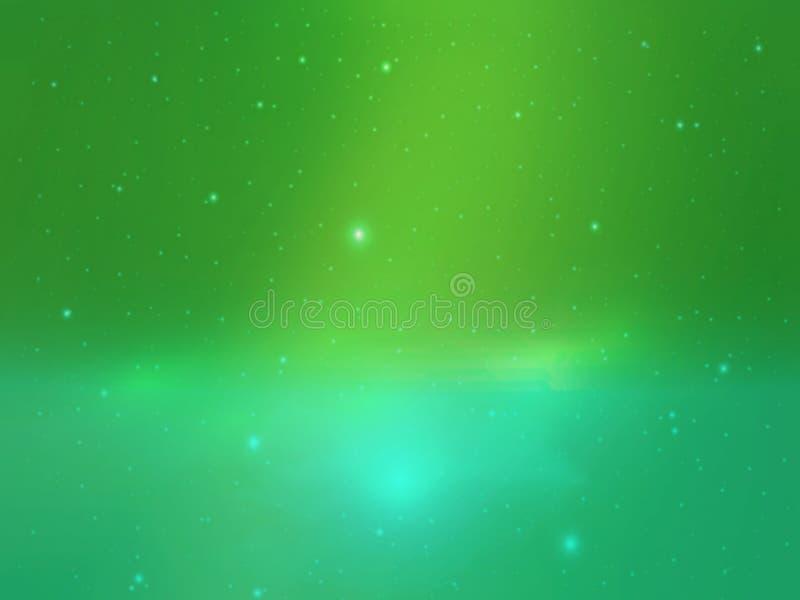 Extracto verde con el fondo de la estrella foto de archivo