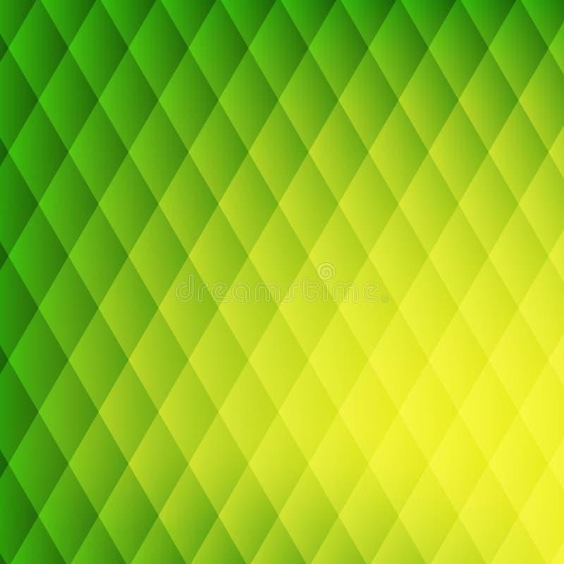 Extracto verde geométrico background_01 ilustración del vector