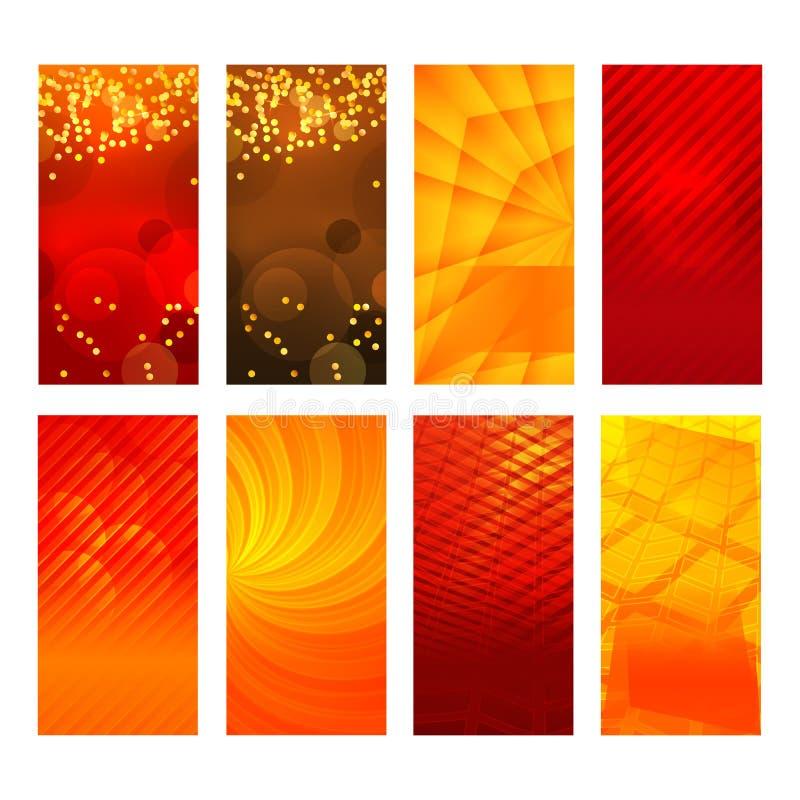 Extracto vertical del resplandor del fondo del elemento del diseño determinado de la bandera stock de ilustración