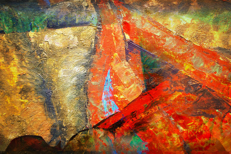 Extracto y arte y pintura y color stock de ilustración
